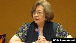 Virginia Dandan, experta de ONU sobre Derechos Humanos y Solidaridad Internacional.