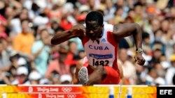 El atleta cubano Dayron Robles.