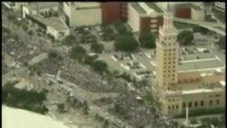 Desfile de campeones en Miami