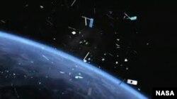 La chatarra espacial está formada por satélites, cohetes y otros fragmentos inactivos.