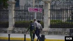 Medidas seguridad alrededor del Palacio del Segundo Cabo