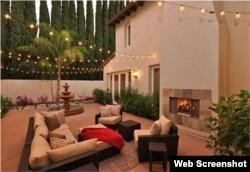 La terraza, rodeada de hermosos jardines. (Foto: Variety.com)