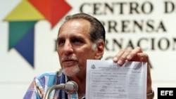 René González, uno de los cinco cubanos condenados en EE.UU. por espionaje y actualmente en libertad supervisada en Cuba.