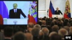 Putin pronuncia el discurso sobre el estado de la nación.