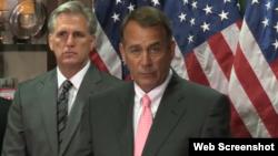 El presidente de la Cámara de Representantes, John Boehner.