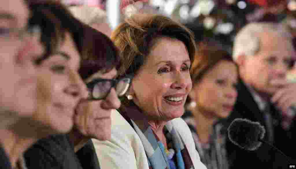 Representantes por el partido demócrata de visita en La Habana, Cuba.