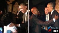 Encuentro de Barack Obama con Berta Soler y Guillermo Fariñas.