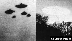Avistamientos de ovnis en Sheffield y Minnesota. Foto de la CIA.