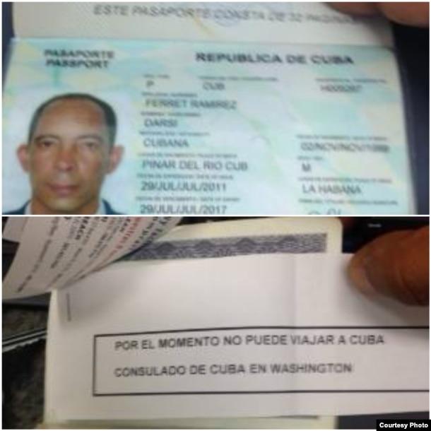 Habilitan nuevo pasaporte pero le niegan el permiso de entrada a Cuba a Darsi Ferret