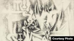 """Detalle de """"Sur les traces"""", Wifredo Lam 1945 (cortesía de Christie's)"""