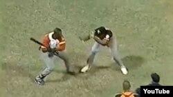Agresión en béisbol cubano