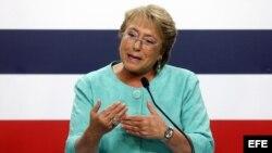 Michelle Bachelet, presidenta de Chile. Foto Archivo