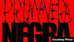Detalle de un cartel sobe la Primavera Negra cubana del 2003.