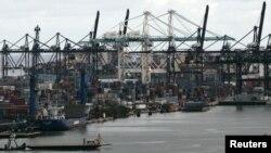 Vista del puerto de Miami.