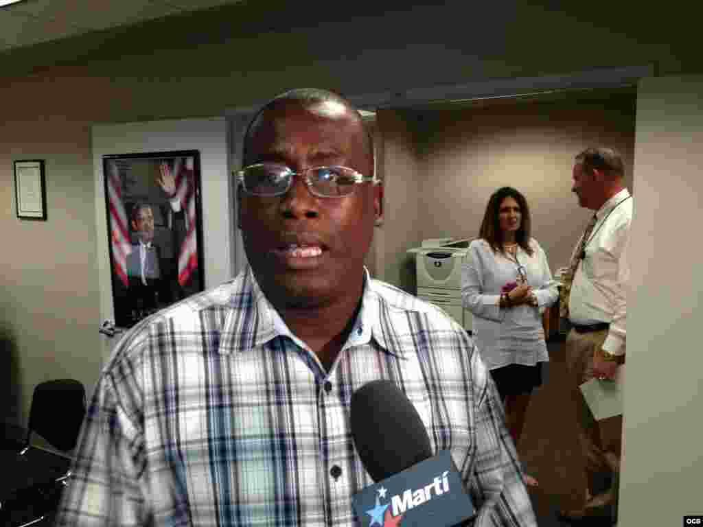 Jorge Luis García Pérez Antúnez durante su visita a Marti Noticias sustuvo un enuentro con trabajadores de la emisora.