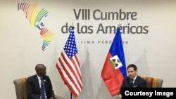 Rubio con el presidente haitiano Jovenel Moise.
