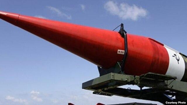 Fotografía de archivo de un cohete ruso en Cuba.