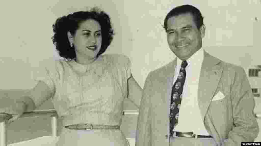 Fulgencio Batista y su esposa Marta Fernández.