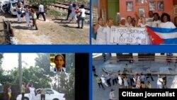 Reprimen marcha de las Damas de Blanco enero 22 Lawton Foto de Angel Moya