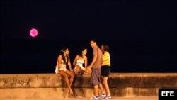 Las luces de la Flotilla se vieron en el Malecón de La Habana