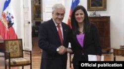 El Presidente de Chile Sebastán Piñera y la activista Rosa María Payá. Foto Presidencia de Chile.