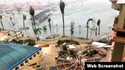 Daños causados por el Huracán Irma a su paso por San Martín.