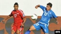 Imagen del partido anterior contra El Salvador donde los cubanos perdieron (4-0)
