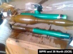Flamantes granadas autopropulsadas RPG halladas a bordo del Chong Chong Gang. Cuba dijo que el armamento se enviaba a Corea para reparaciones.