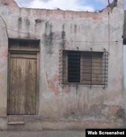 La casa de Erminda Parra está en mal estado constructivo desde 1970.