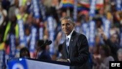 El presidente de Estados Unidos, Barack Obama, participa en el tercer día de la Convención Nacional Demócrata 2016