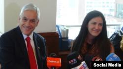 Sebastián Piñera y Rosa María Payá.