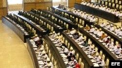 Fotografía de archivo del Parlamento birmano. EFE/Nyein Chan Naing