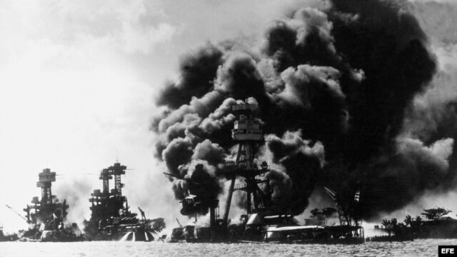 Ataque en Pearl Harbor, el 7 de diciembre de 1941.