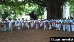 Marcha dominical en defensa de los derechos humanos
