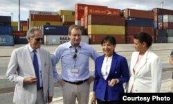 Delegación de Administración Obama visitó el puerto de Mariel.