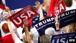 Delegados de Nueva York aseguran su voto oficial por Donald Trump.