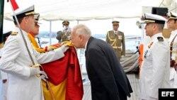 García-Margallo preside en La Habana jura de bandera a bordo del Elcano