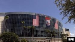 Fotografía de archivo del Tampa Bay Times forum en Tampa (EE.UU.), donde se llevará a cabo la Convención Nacional Republicana, después del lunes 27 de agosto. EFE/BRIAN BLANCO
