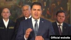 El presidente de Honduras, Juan Orlando Hernández. Archivo.