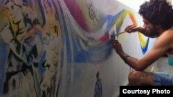 Grafittis en Holanda para dar a conocer falta de libertad en Cuba