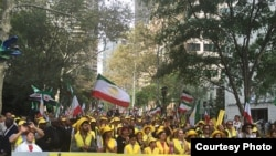 Protestas frente a la ONU .