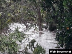 Intensas inundaciones en la Isla de la Juventud por la lluvia acumulada de los últimos días