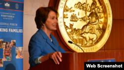 La líder demócrata en la Cámara de Representantes, Nancy Pelosi.
