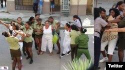 Gobierno continúa reprimiendo a las Damas de Blanco los domingos. (Fotos: Angel Moya/Archivo)