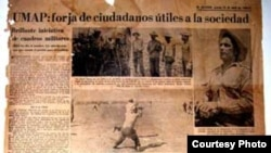 La UMAP según la prensa oficial de Cuba