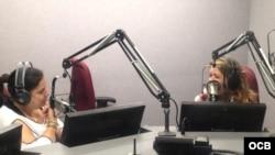 La actriz cubana Judí González en Radio Martí