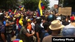 Estudiantes marchan en Caracas