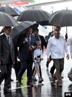 Llegada a Cuba de Alexander Lukashenko