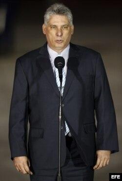 El primer vicepresidente de Cuba, Miguel Díaz- Canel.