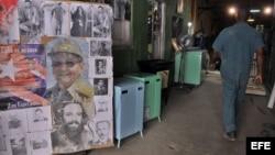 Un taller de viejas lavadoras soviéticas.